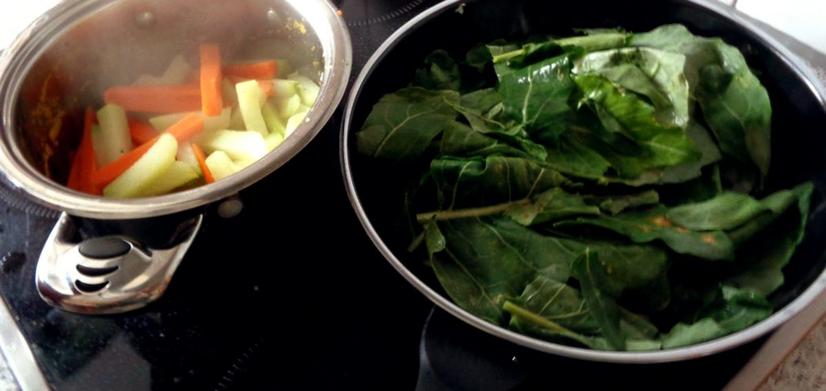 Kohlrabi-Blätter gebraten, eine Delikatesse …